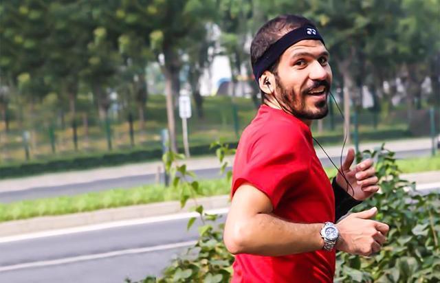 Il runner e astrofisico Luca Naso