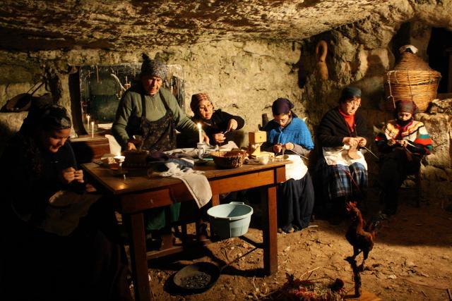 Presepe vivente nelle grotte di Cava d'Ispica