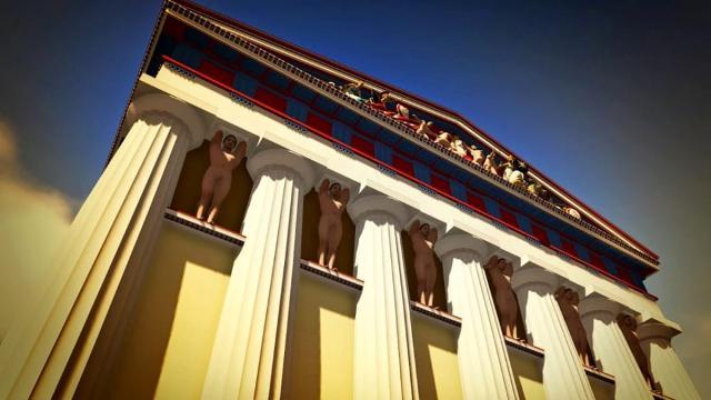 Ricostruzione del Tempio di Giove Olimpo - I Telamoni