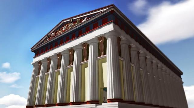 Ricostruzione del Tempio di Giove Olimpo