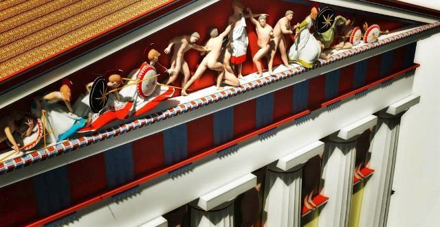 Ricostruzione del Tempio di Giove Olimpo - Decorazione del Timpano