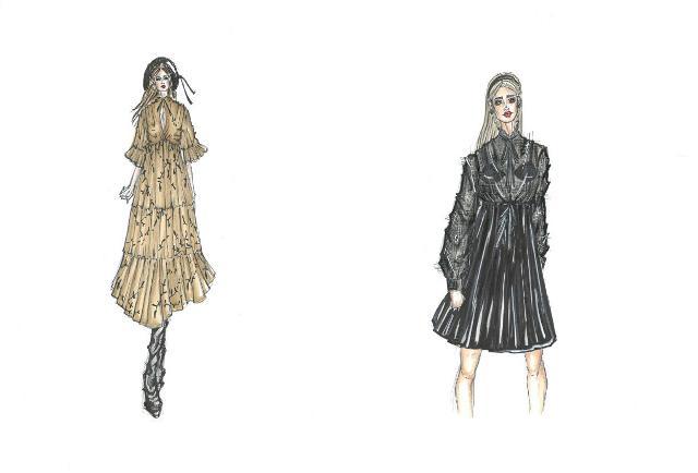 4. L'abito romantico - bozzetti di Carlo Migliori