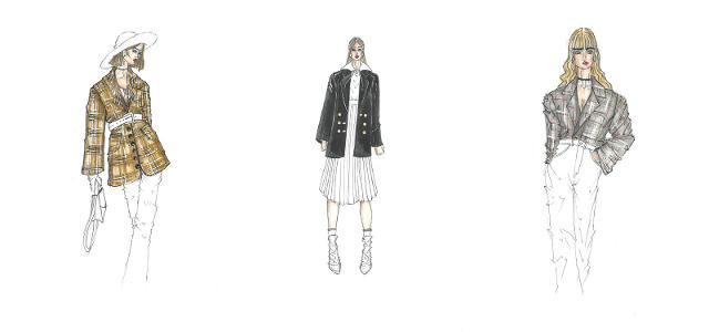 1. Il blazer - bozzetti di Carlo Migliori