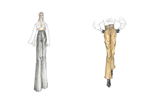 2. Pantaloni a vita alta - bozzetti di Carlo Migliori