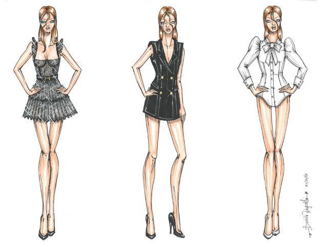Bozzetti di Davide Zingarelli - MKS Milano Fashion School