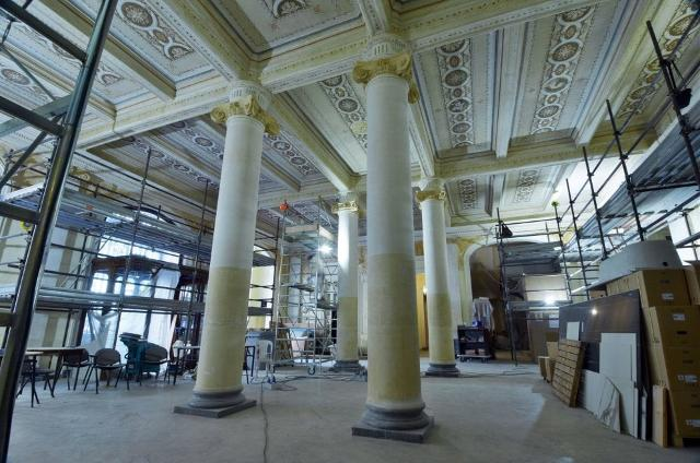 Lavori di restauro del Grand Hotel et Des Palmes - ph Mike Palazzotto