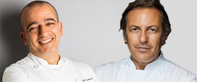 Gli chef Pino Cuttaia e Filippo La Mantia