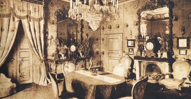 Una foto storica dell'appartamento di Richard Wagner al Grand Hotel et Des Palmes