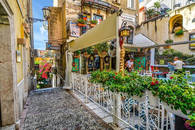 Un incantevole scorcio di Taormina