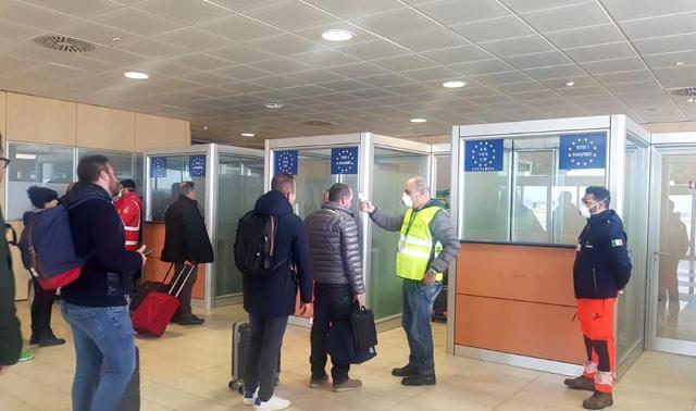 Controlli all'aeroporto Vincenzo Florio di Trapani-Birgi