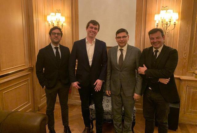 Da sinistra: Dario Sorbello, Niall O'Connor, Salvatore Ombra e Michele Bufo