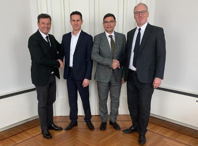 Da sinistra: Michele Bufo, Alex Spinato, Salvatore Ombra e Joseph Gostner