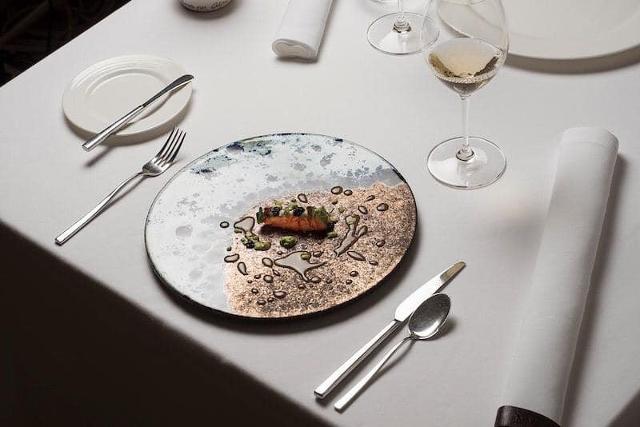 """Piatto """"Atollo"""" di Peppino Lopez per Sapio Restaurant di Catania"""
