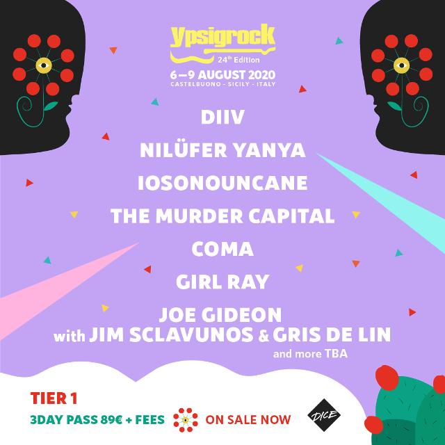 Nonostante l'estate sia ancora lontana Ypsigrock Festival è felice di annunciare…