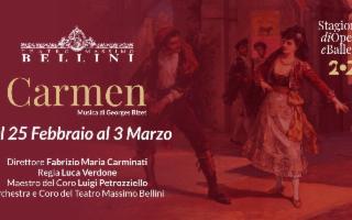 Al Teatro Massimo Bellini in scena la Carmen di Georges Bizet