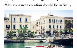 Il Washington Post spiega perché your next vacation should be in Sicily…