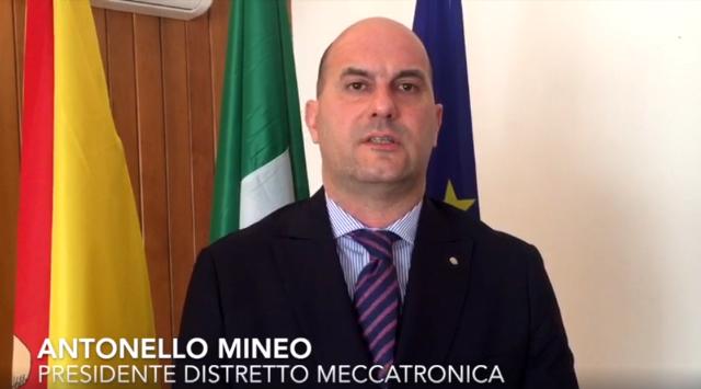 Antonello Mineo, presidente del Distretto Meccatronica