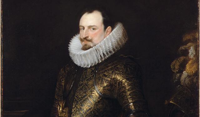 Particolare del ritratto del vicerè Emanuele Filiberto di Savoia dipinto da Antoon van Dyck a Palermo