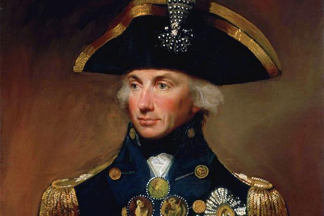 L'ammiraglio britannico Horatio Nelson