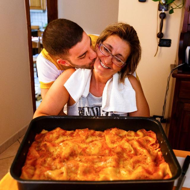 Ivan con la sua mamma