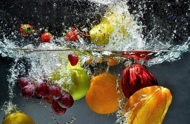Lavare cibi con disinfettanti alimentari