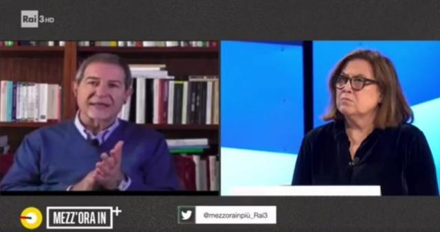 """Nello Musumeci in collegamento con la trasmissione di Lucia Annunziata """"Mezz'ora in più"""" su Rai3 - 15 Marzo 2020"""