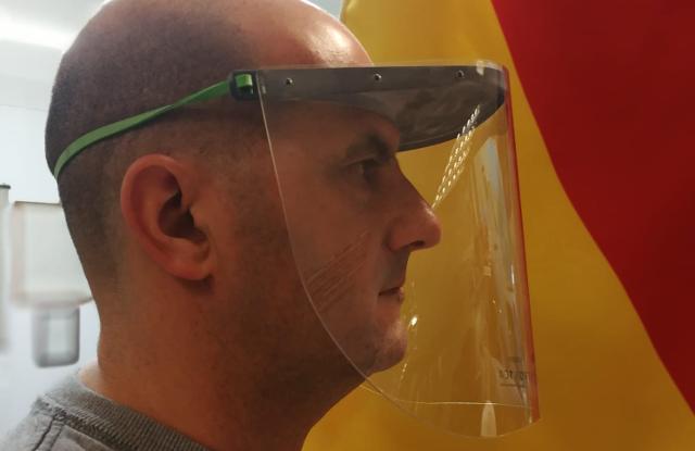 Prototipo maschera 3D per sanitari, Distretto Meccatronica