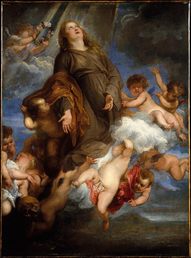 """Santa Rosalia intercede per la pestilenza di Palermo"", di Antoon van Dyck"