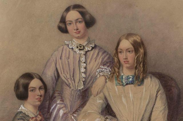 Un ritratto delle sorelle Brontë
