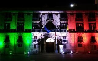 ''L'Italia è una da Nord a Sud'': a Palermo Palazzo d'Orlèans e Villa Whitaker illuminati dal Tricolore
