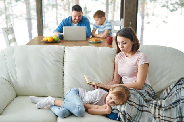 Passare tanto tempo a casa vuol dire dedicarsi di più anche ai propri figli...
