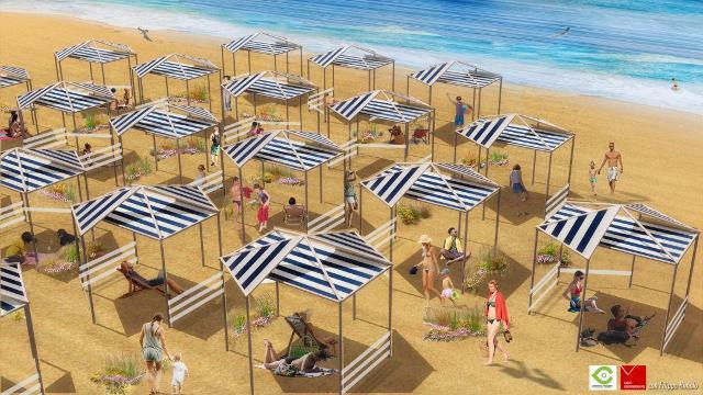 """""""Mare 2020 - La misura e il paesaggio"""", il rendering della spiaggia"""