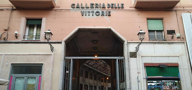 L'ingresso della Galleria delle Vittorie in via Maqueda 305 a Palermo