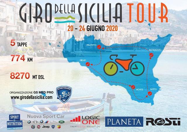 Sabato 20 giugno parte da Palermo Giro della Sicilia Tour