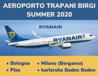 Ryanair riprende i collegamenti da e per l'aeroporto di Trapani