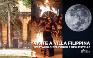 Spettacolo del fuoco e visite a Villa Filippina
