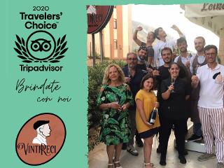 Il Travellers' Choice di Tripadvisor al VintiReci di Bagheria