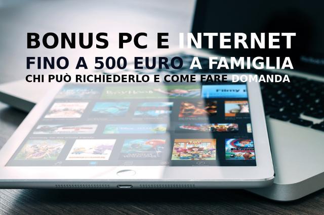 Come e quando richiedere il Bonus PC e Internet da 500 euro