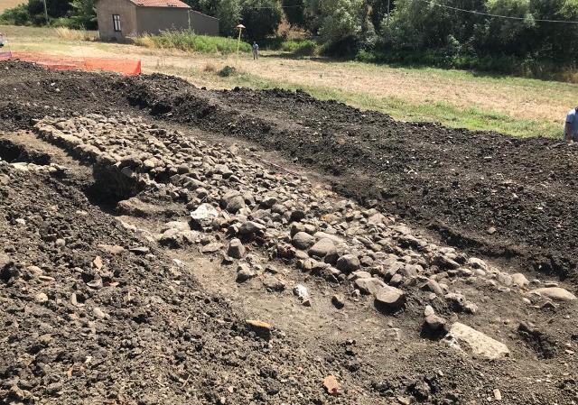 Il tratto della via Catina-Thermae rinvenuta nel territorio di Caltavuturo