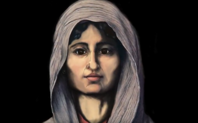 Il volto della donna bizantina di San Nicola-Giglia
