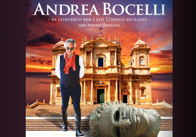 Andrea Bocelli e Igor Mitoraj a Noto per celebrare i patrimoni Unesco siciliani
