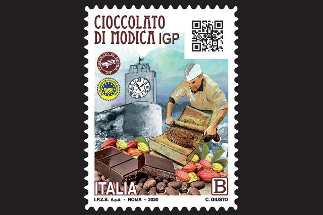 Il primo francobollo con QR Code è un omaggio al Cioccolato Modica Igp