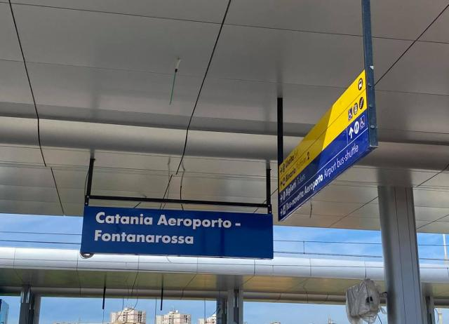 Tra pochi mesi si potrà raggiungere Fontanarossa col treno