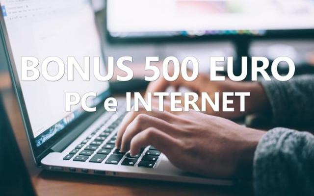 Scatta il Bonus 500 euro per pc, tablet e internet: ecco come ottenerlo