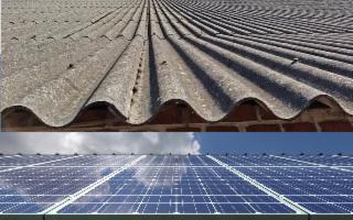 Un'idea sostenibile e intelligente: sostituire i tetti in amianto con pannelli solari