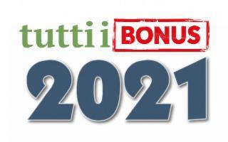 Tutti i bonus del 2021!