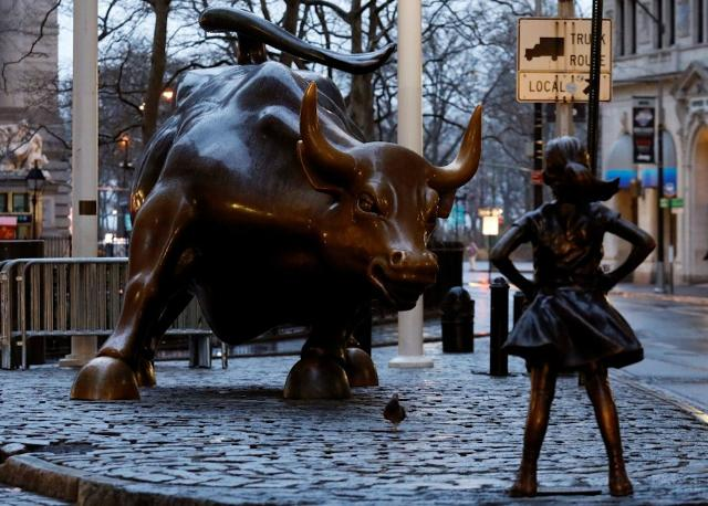 La Fearless Girl davanti al Charging Bull