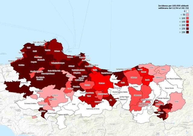 Palermo e parte della provincia restano in zona rossa