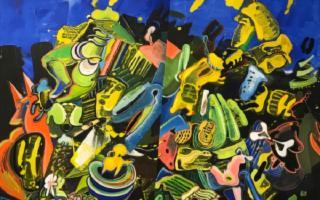 ''Folla'' di Lucio Pozzi