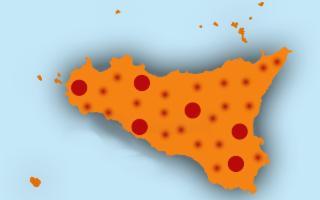 In Sicilia, zona arancione, i contagi sono ancora in salita